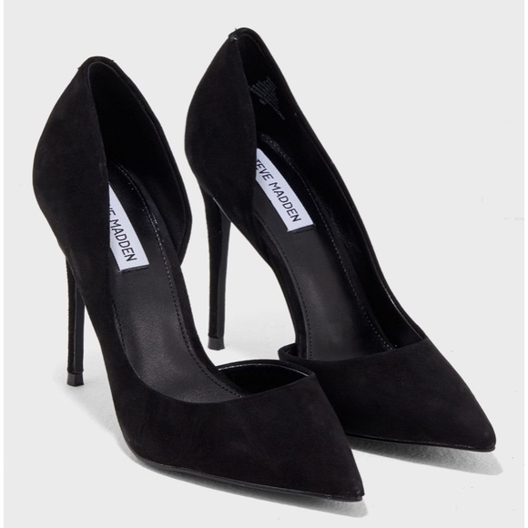 ea9a6fd646b Steve Madden felicity black suede heel